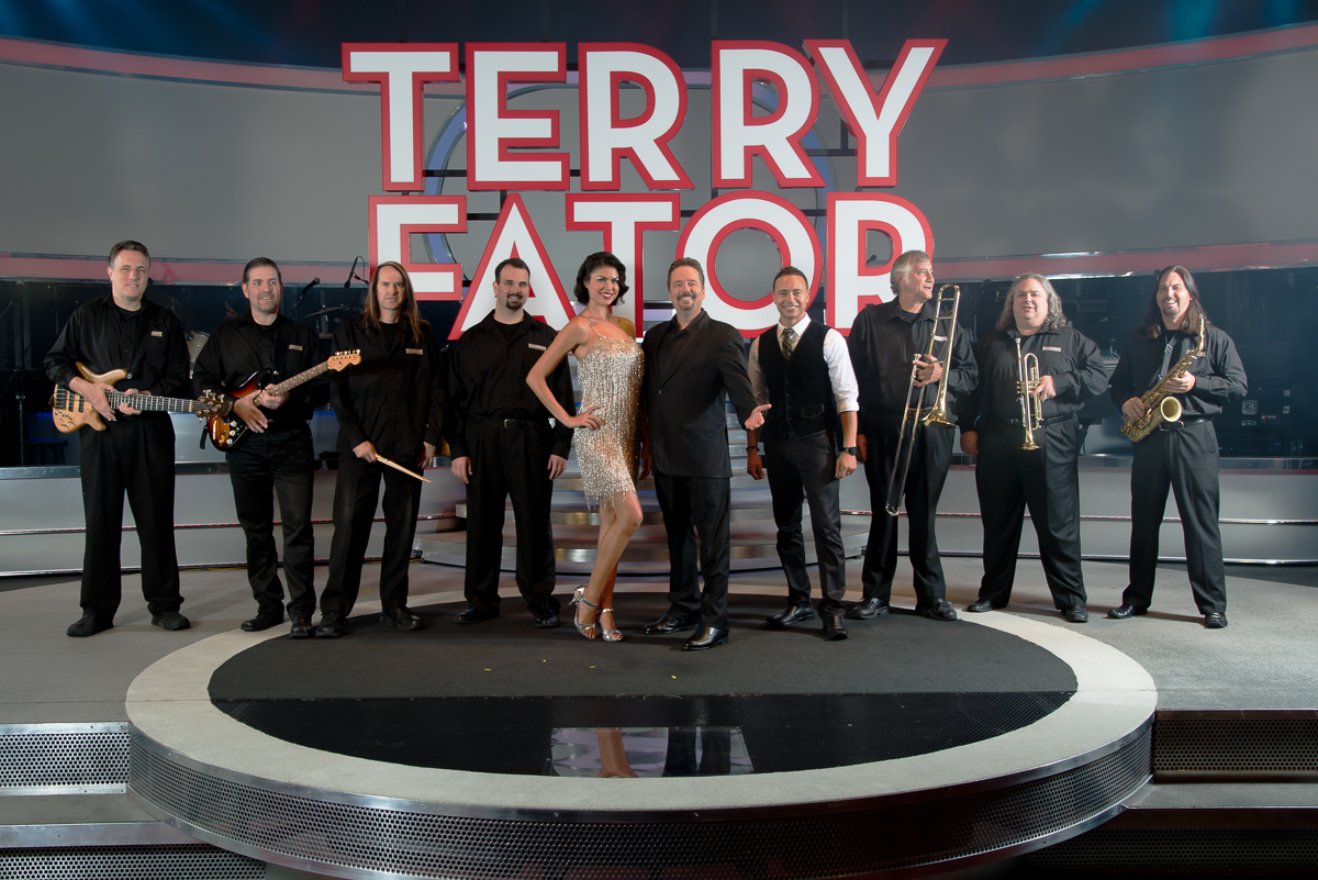 Photographers of Las Vegas - Corporate Photography - terry fator with band