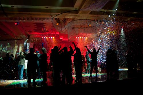 Photographers of Las Vegas - Event Photography - event new years Eve party celebration at midnight image