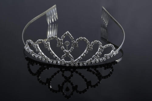 Photographers of Las Vegas - Product Photography - Bride's Tiara on black background