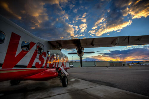 Photographers of Las Vegas - Corporate Photography - vision air airplane at sunset